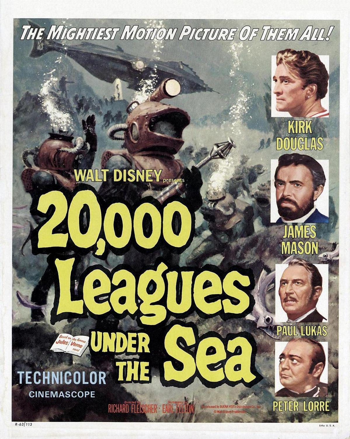 Kirk Douglas 2000 leagues under the sea