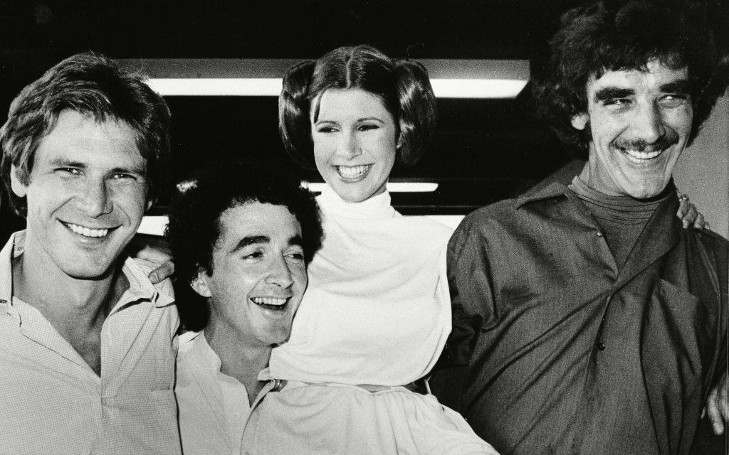 Peter Mayhew sul set