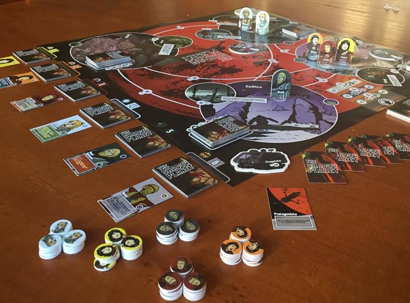 Blasteroid Bros the shadow planet board game