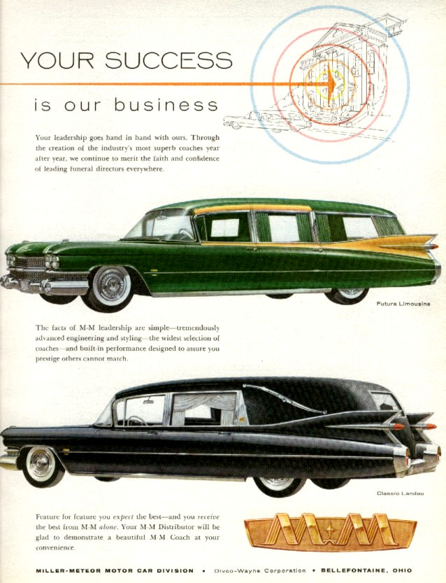 ecto-1-ghostbusters 1959 Cadillac Miller-Meteor Combo advertisment