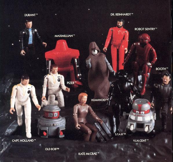 Black Hole (1979): la linea di giocattoli MEGO e prototipi