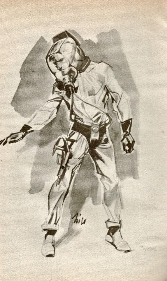 Concept art by Niso Ramponi for STARCRASH (1979)