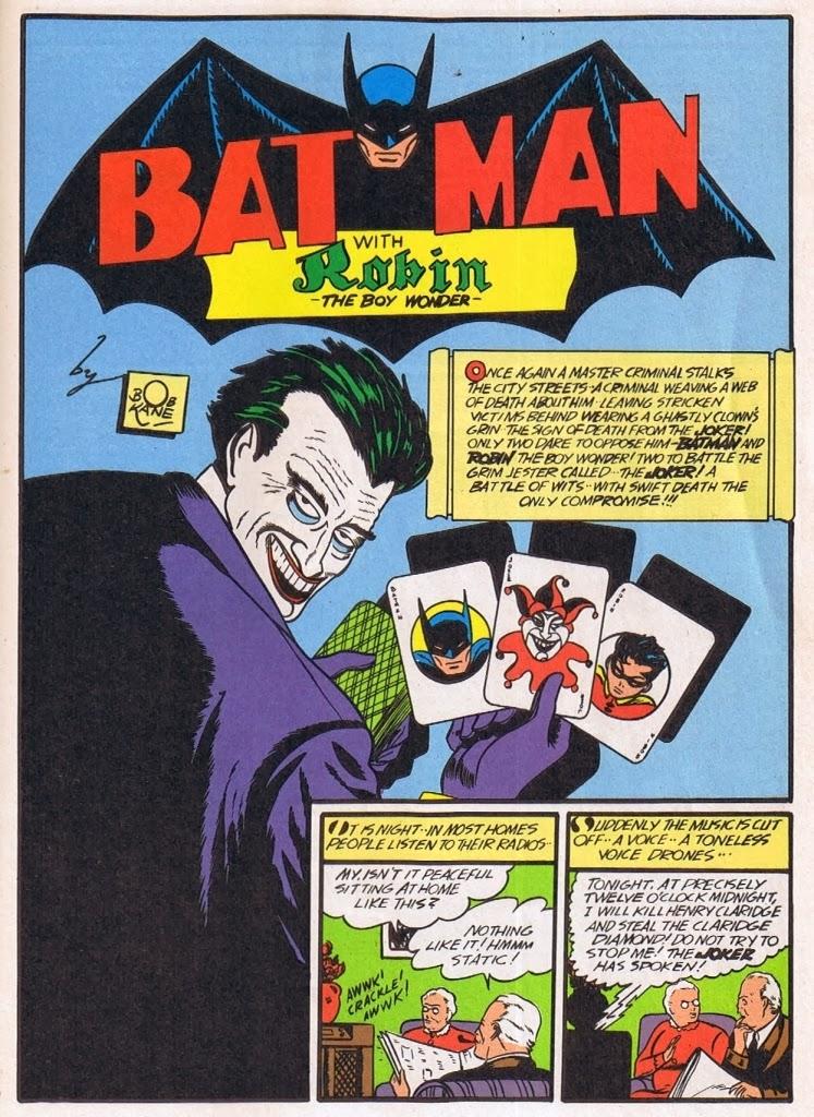 25 aprile 1940 prima apparizione Joker