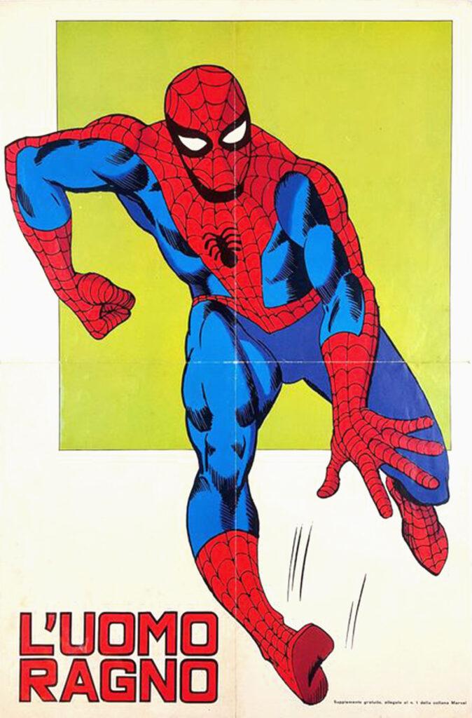 Il 30 aprile 1970 usciva in Italia L'Uomo Ragno, pubblicato dall'Editoriale Corno, è la prima edizione italiana dei fumetti originariamente pubblicati negli Stati Uniti dalla Marvel Comics, a partire dal 1962. La testata venne pubblicata dal 1970 al 1981, per per un totale di 283 albi, pubblicati con periodicità quattordicinale all'interno della collana Supereroi fino al n. 221 che poi divenne la collana L'Uomo Ragno. Inizialmente gli albi alternavano due pagine a colori e due in bianco e nero, dal n. 50, divennero interamente a colori. Ogni albo conteneva dalle due alle quattro storie dedicate ai personaggi della Marvel, almeno una delle quali dedicata all'Uomo Ragno mentre le altre erano dedicate ad altri personaggi come Dottor Strange, Ant-Man/Giant-Man/Golia, Iron Man, Devil e Hulk. Prima di essere pubblicate dalla Corno in questa testata quasi tutte le storie erano inedite in lingua italiana tranne poche eccezioni.